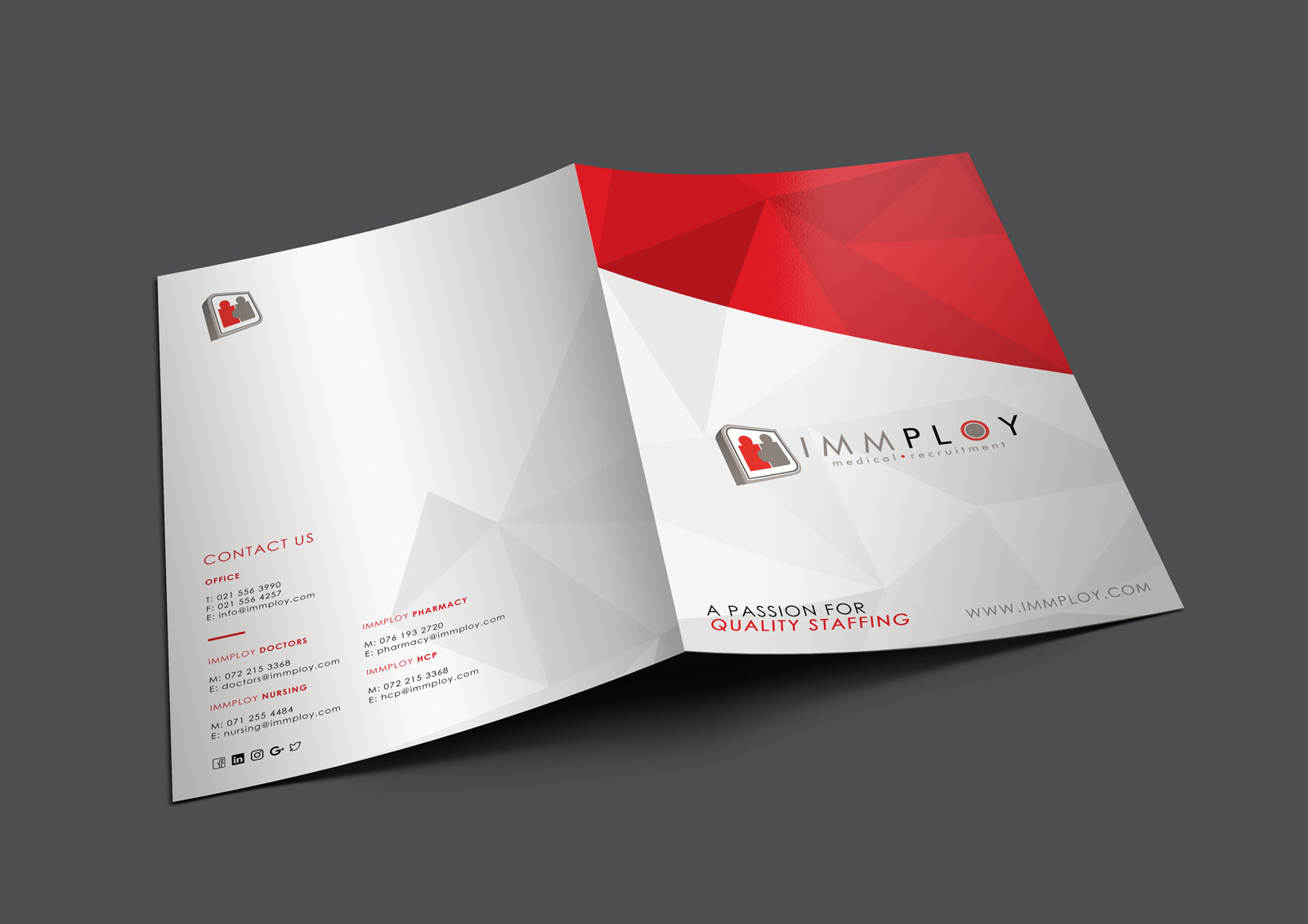 Immploy Medical Recruitment – Corporate Stationary